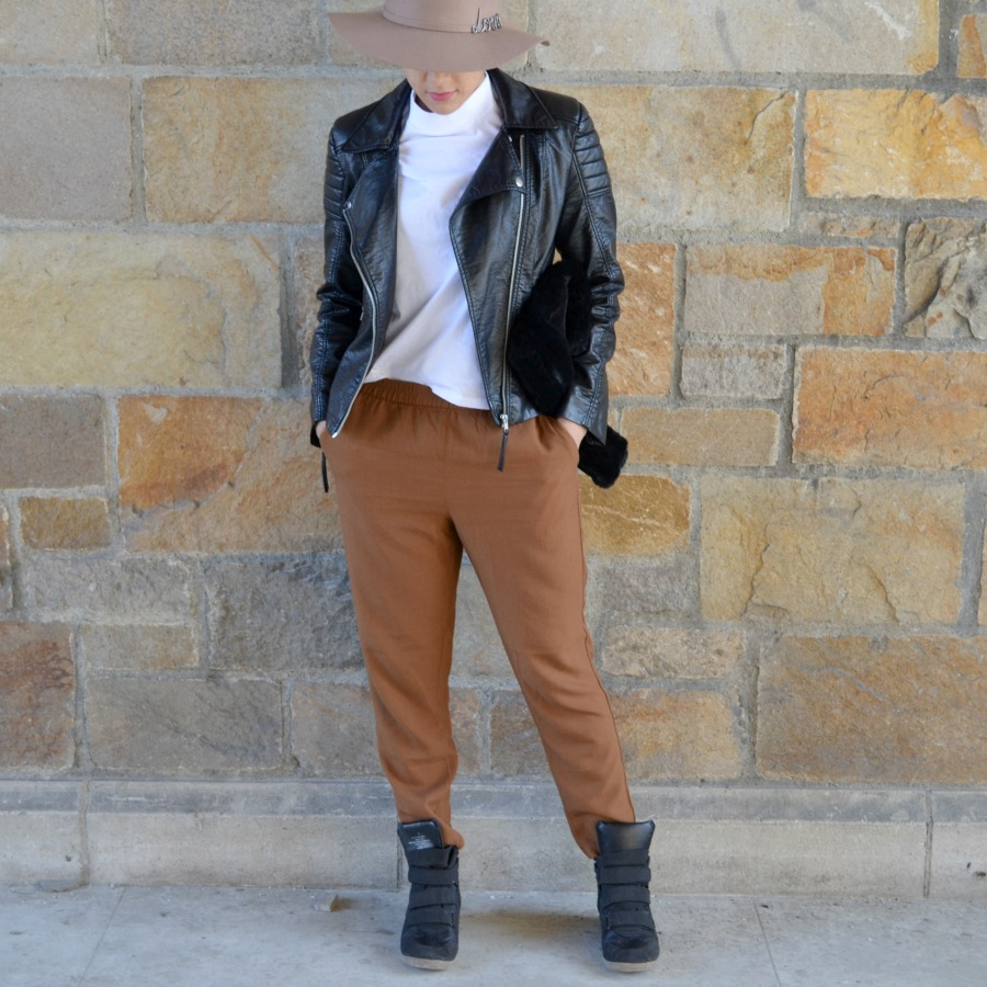 Camel Pants Outfit