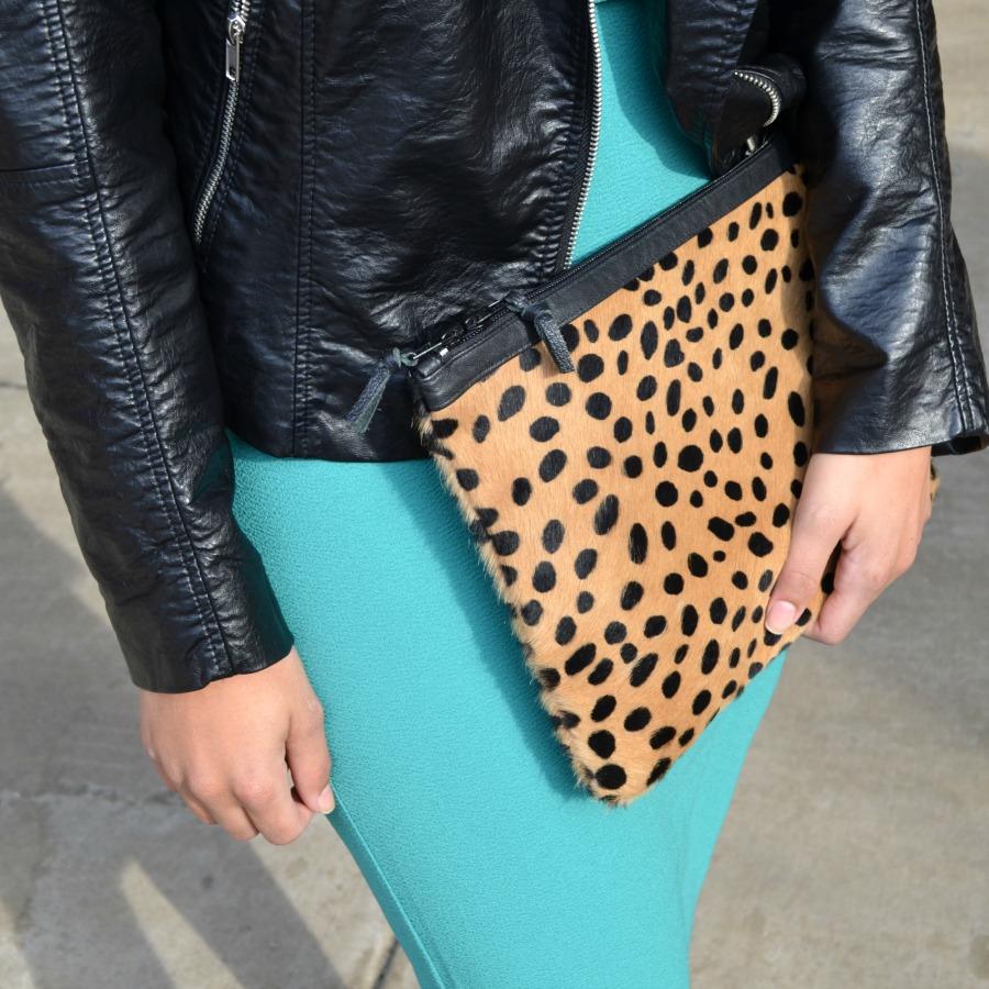 Love Cortnie Leopard Clutch