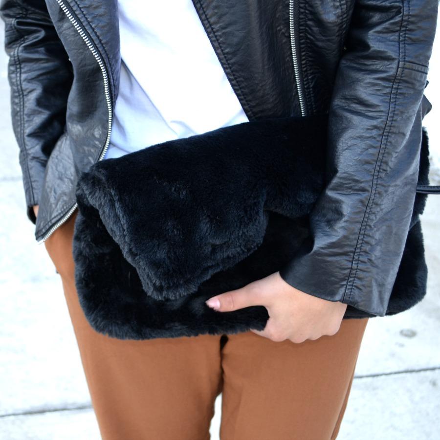 Topshop Fur Clutch