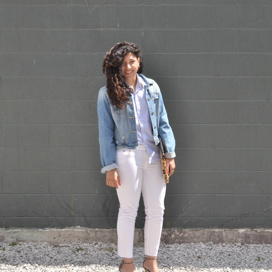 White Jeans Outfit Idea
