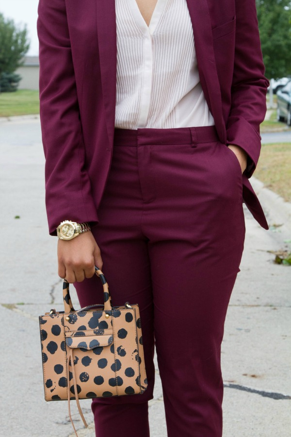 Topshop Suit Color Block Details