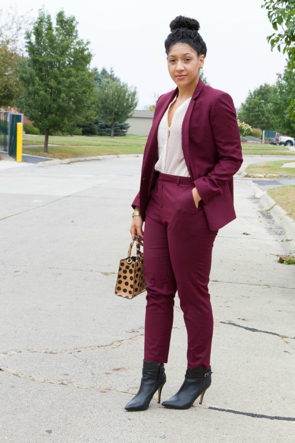 Topshop Suit Color block
