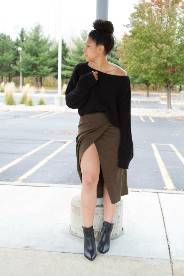 ASOS Army Skirt Fall Outfit