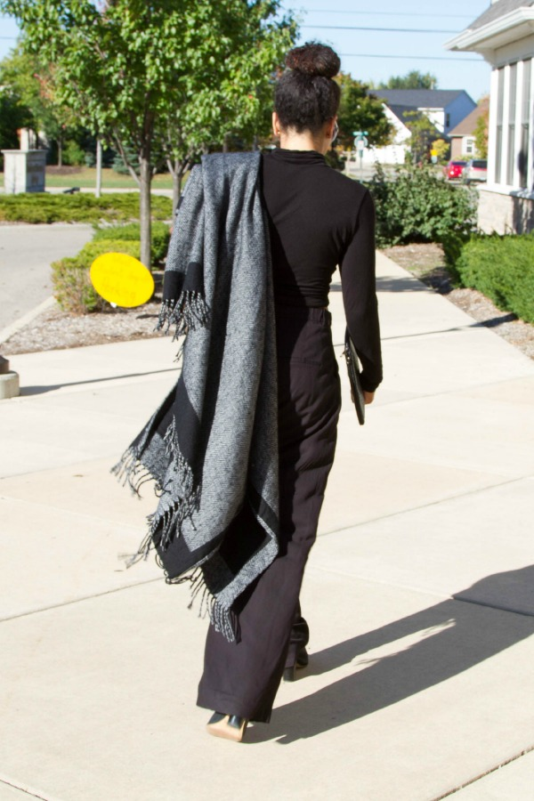 blanket scarf walk away