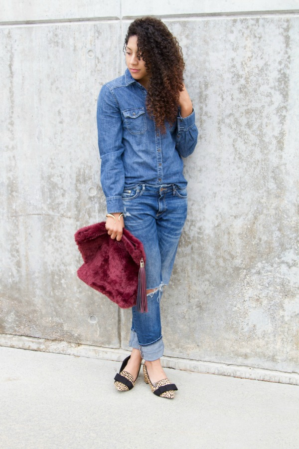denim on denim outfit idea