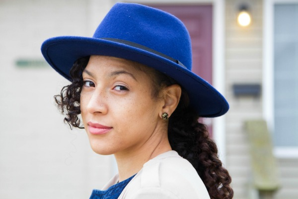 Fall Denim Jumpsuit H&M Navy Hat