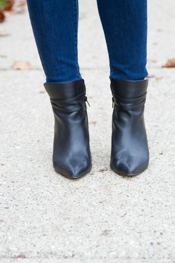 H&M Casual Holiday Outfit Saks off 5th Booties