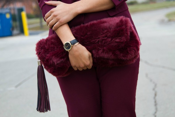 Holiday Dressing ASOS Faux Fur Clutch