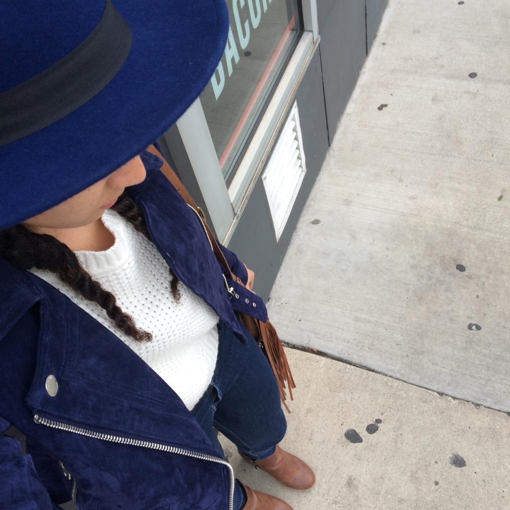 Navy Moto Jacket Lil Miss JB Style