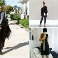 all black outfit ideas for winter