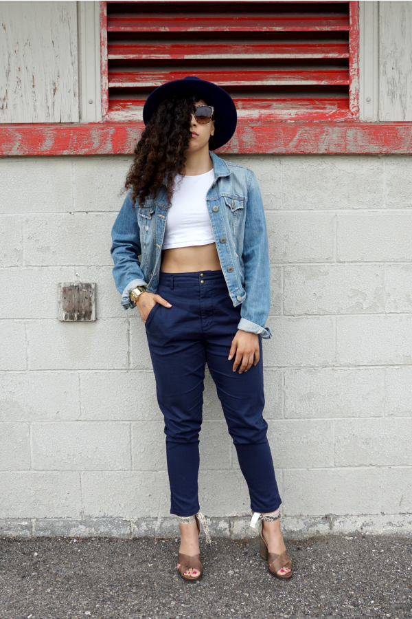 The Key to Wearing Navy High Waist Pants|Lil Miss JB Style