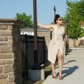 Beige Longline Vest Lil Miss JB Style Detroit Fashion Blog