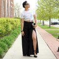 H&M Split Leg Pants Lil Miss JB Style