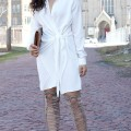 How to Style a Tie Front Shirt Dress Lil Miss JB Style