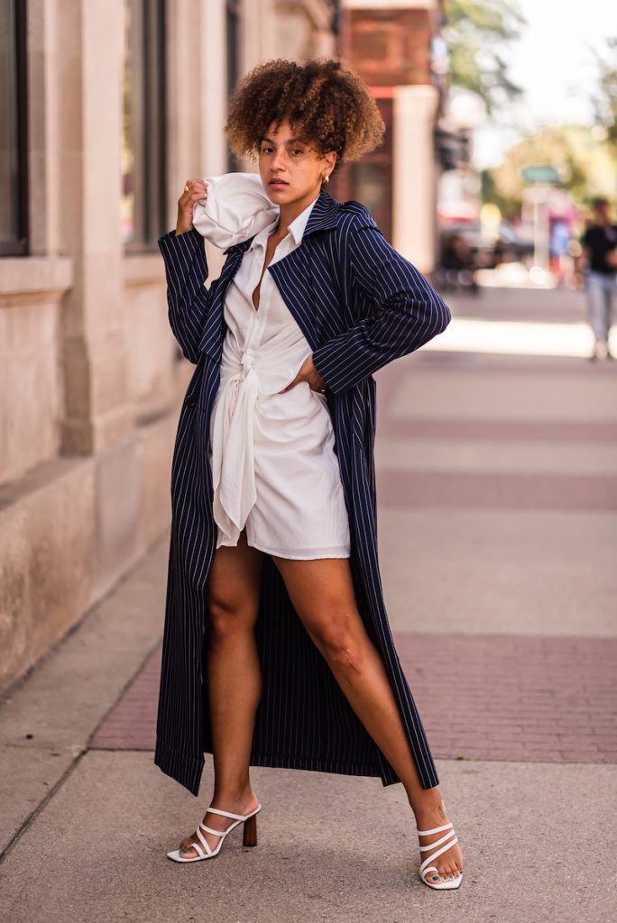 trench coat outfit black girl, spring outfit idea, trench coat street style outfit, summer fashion