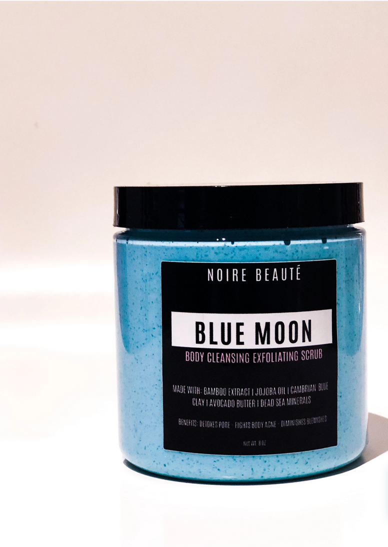 black wellness blogger, black owned skincare products, black owned business, black girl fashion, support black influencers, Noire Beaute Body Scrub