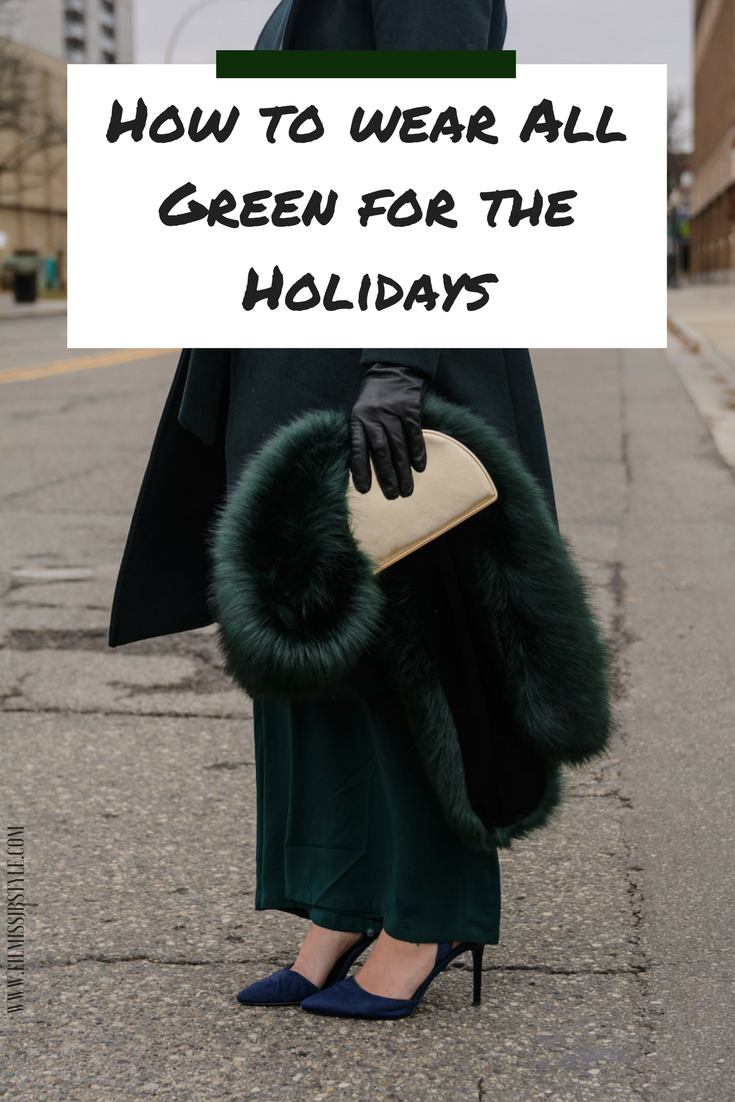 How to Style an All Green Holiday Outfit Idea for Young Women