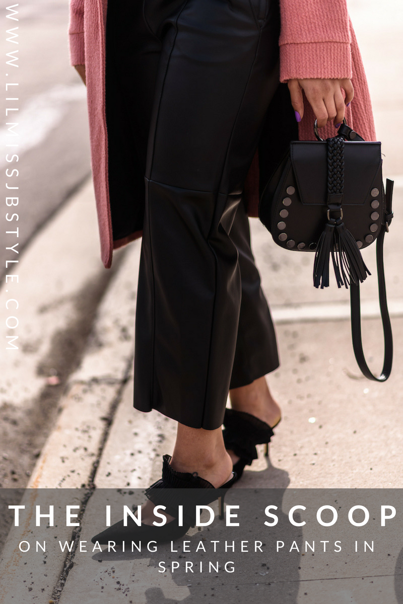 How to Wear Cropped Black Leather Pants This Spring| fashion blogger style outfits, chic spring outfit, fashion blogger tips street styles