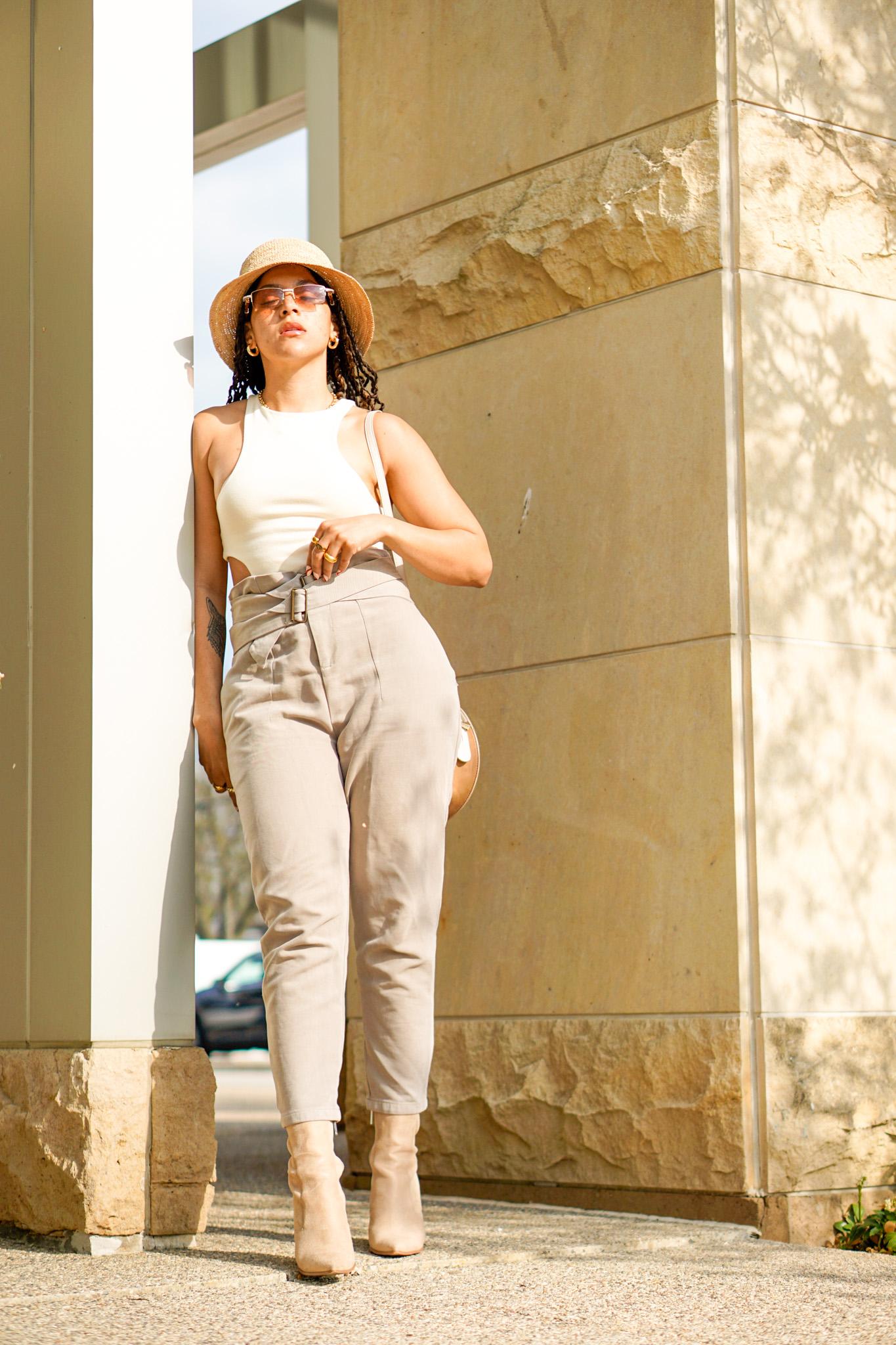 cutout bodysuit outfit ideas, black lifestyle blogger, cutout bodysuit outfit street style, summer outfit black girl, spring fashion, cutout bodysuit outfits black girl