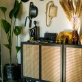 DIY rattan furniture, rattan storage, easy DIY project, rattan storage tutorial