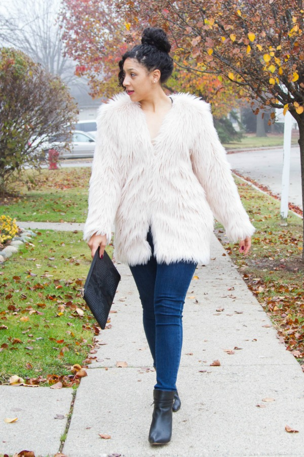 holiday-outfit-idea-female-engineer-lil-miss-jb-style-faux-fur-coat