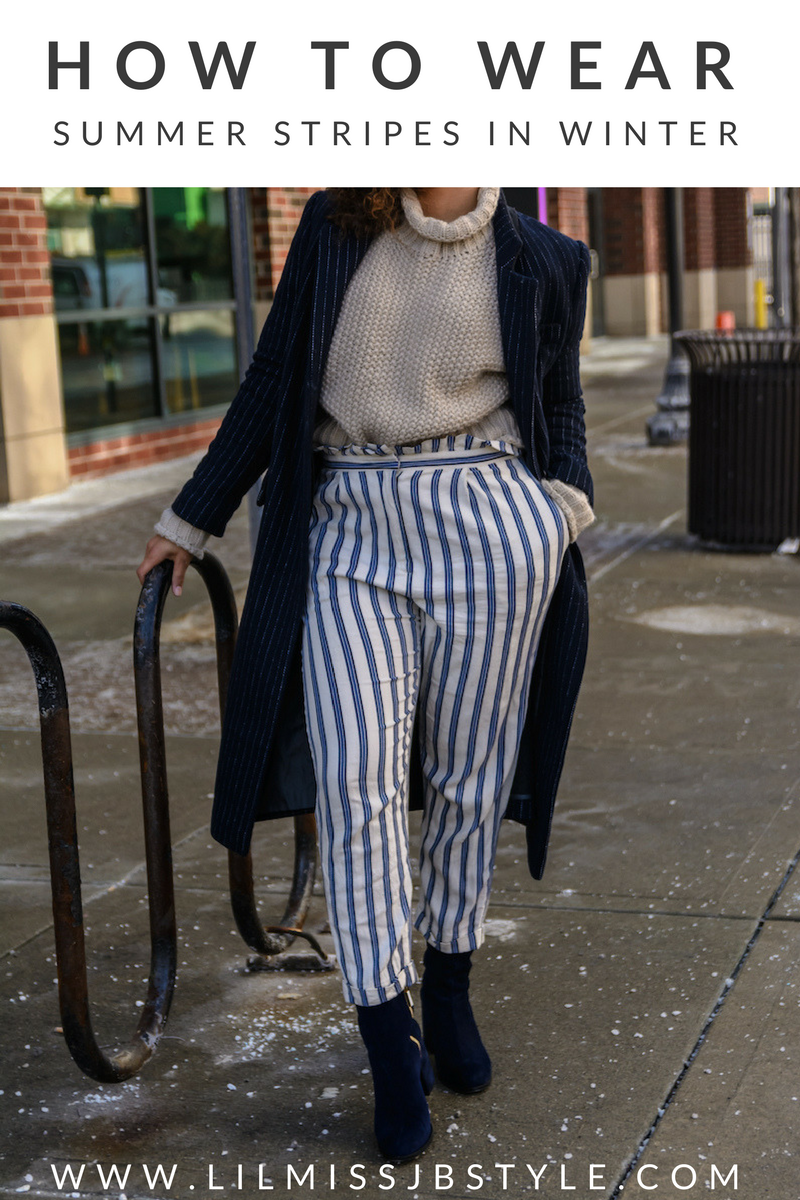 How to Wear Winter Stripes
