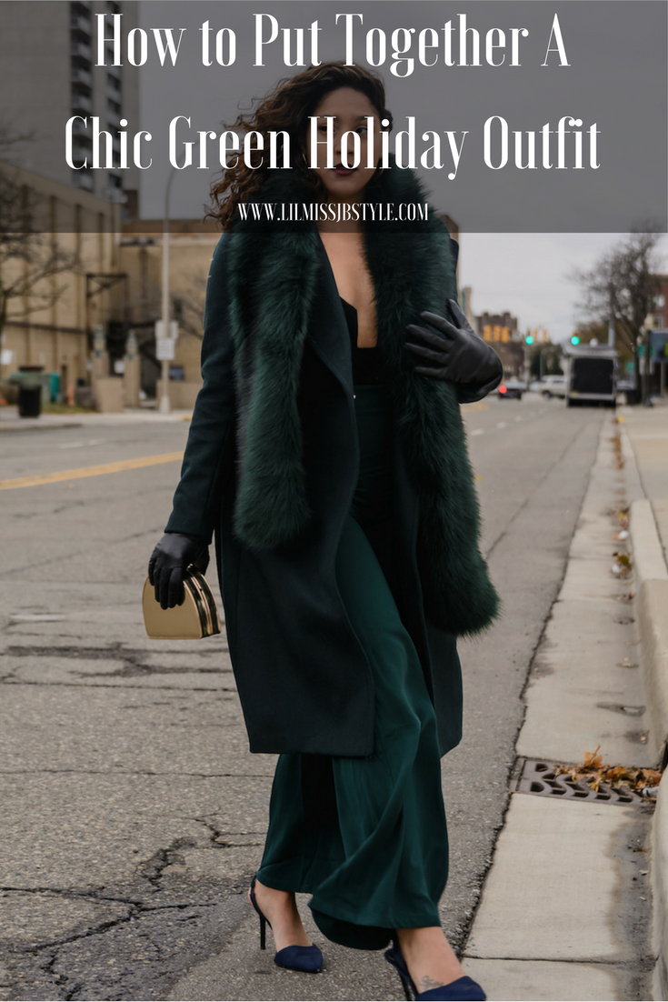 How to Create an All Green Holiday Outfit Idea for Young Women