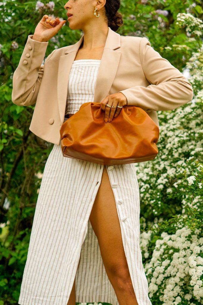 matching skirt set, matching sets summer outfit idea, matching set street style outfit, summer outfit black girl