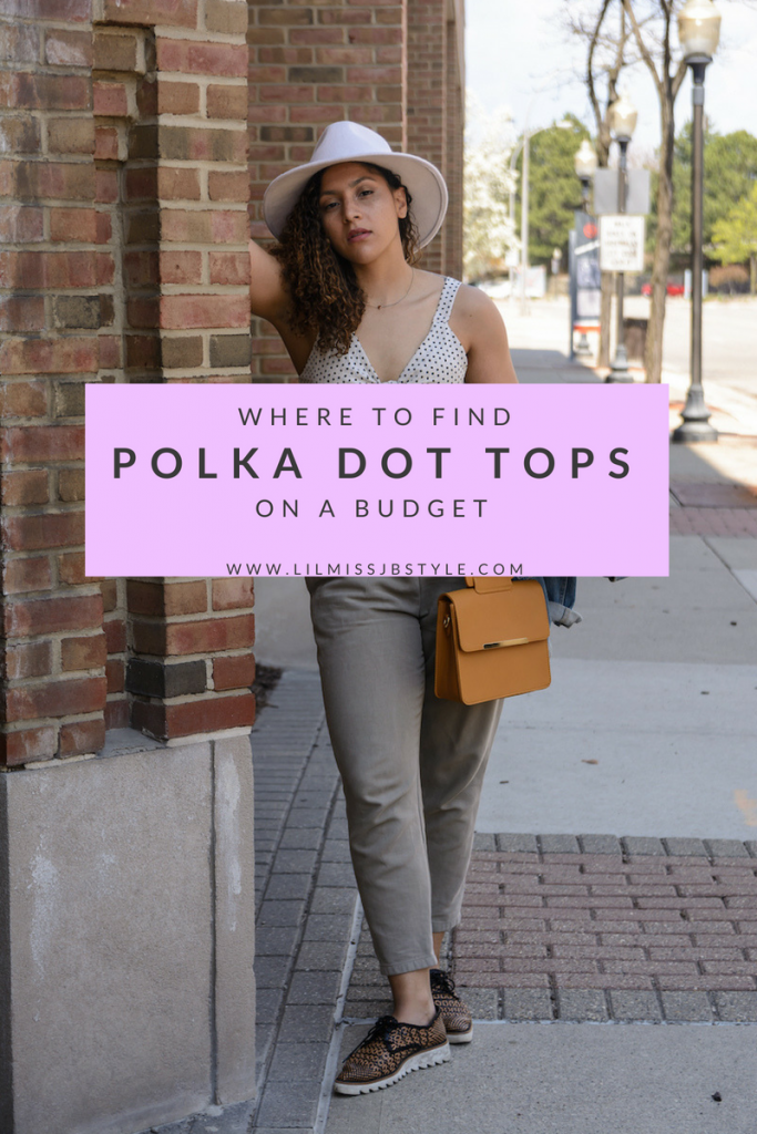 polka dot shirt casual summer outfit for women, fashion blogger style outfits, fashion blogger tips articles, summer outfits women casual fashion ideas simple