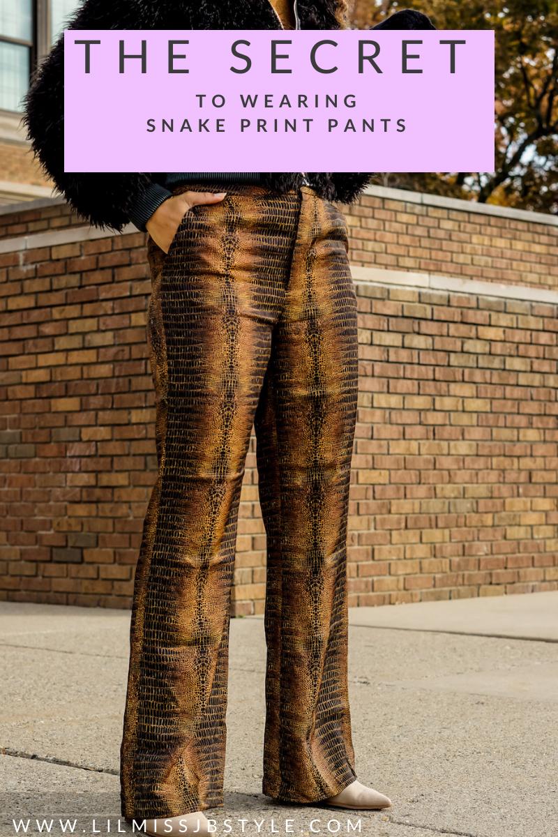 2 ways to wear snake print pants