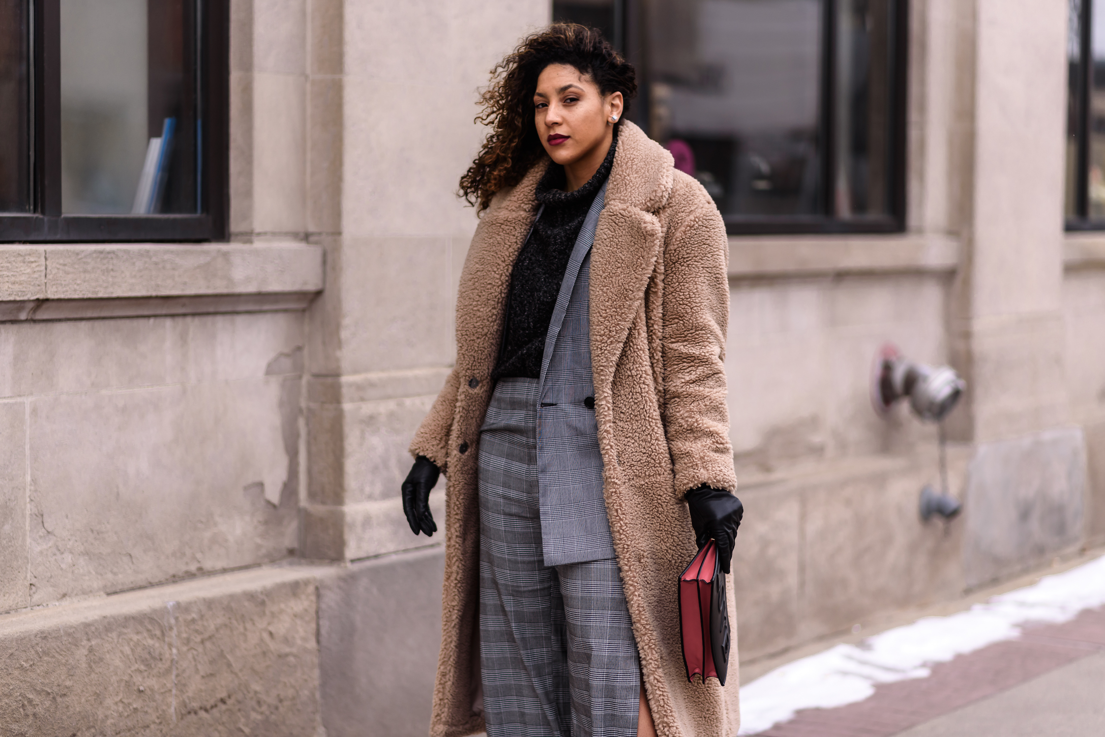 What It's Like Being a Stylish Black Female Engineer|Detroit Fashion Blogger - plaid suit for women, chic spring work outfit, plaid blazer, plaid pants, work wear