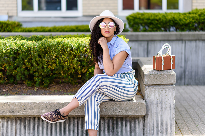 Blue and White Summer Stripes