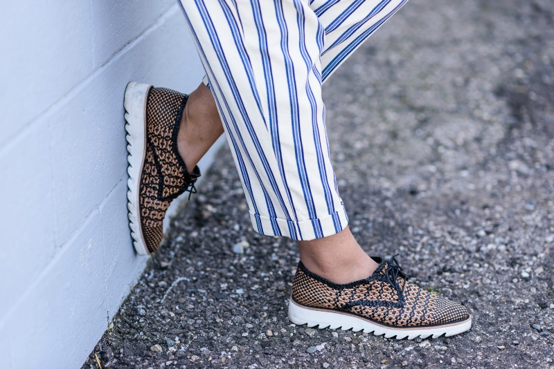 Summer Stripes and Braided Flatform Shoes